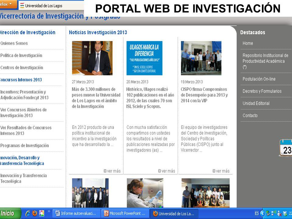 PORTAL WEB DE INVESTIGACIÓN
