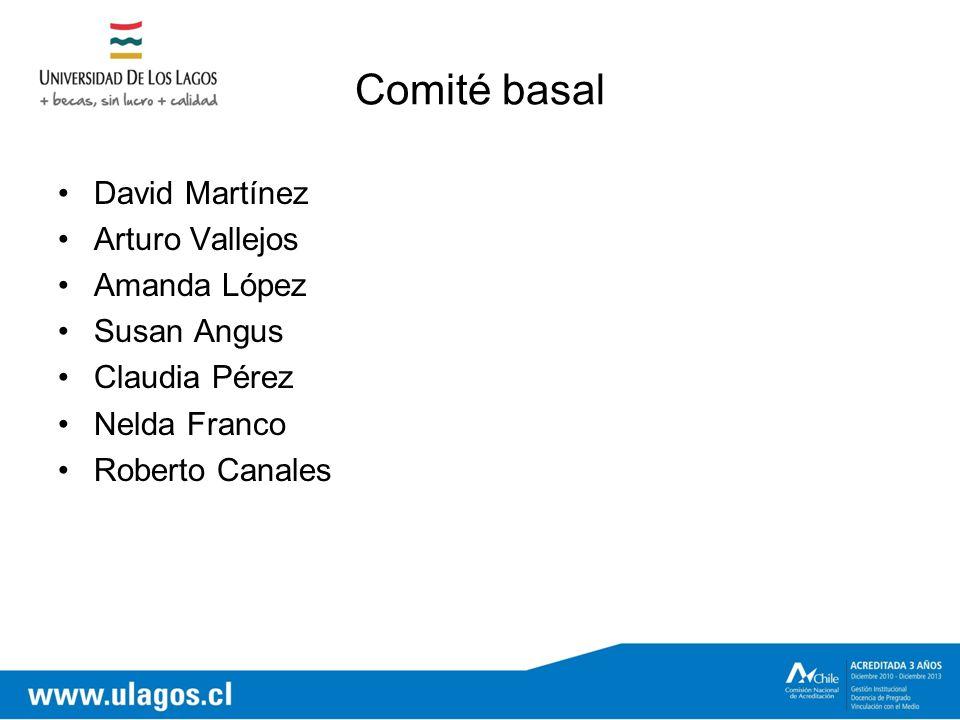 Comité basal David Martínez Arturo Vallejos Amanda López Susan Angus Claudia Pérez Nelda Franco Roberto Canales
