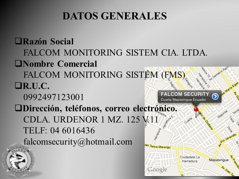  Razón Social FALCOM MONITORING SISTEM CIA. LTDA.