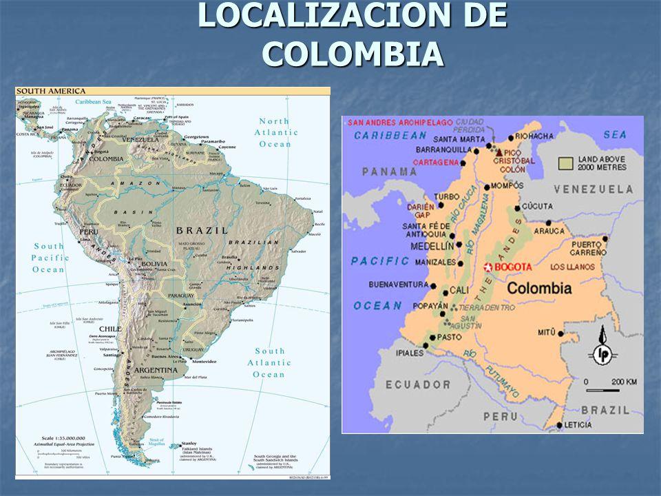LOCALIZACION DE COLOMBIA