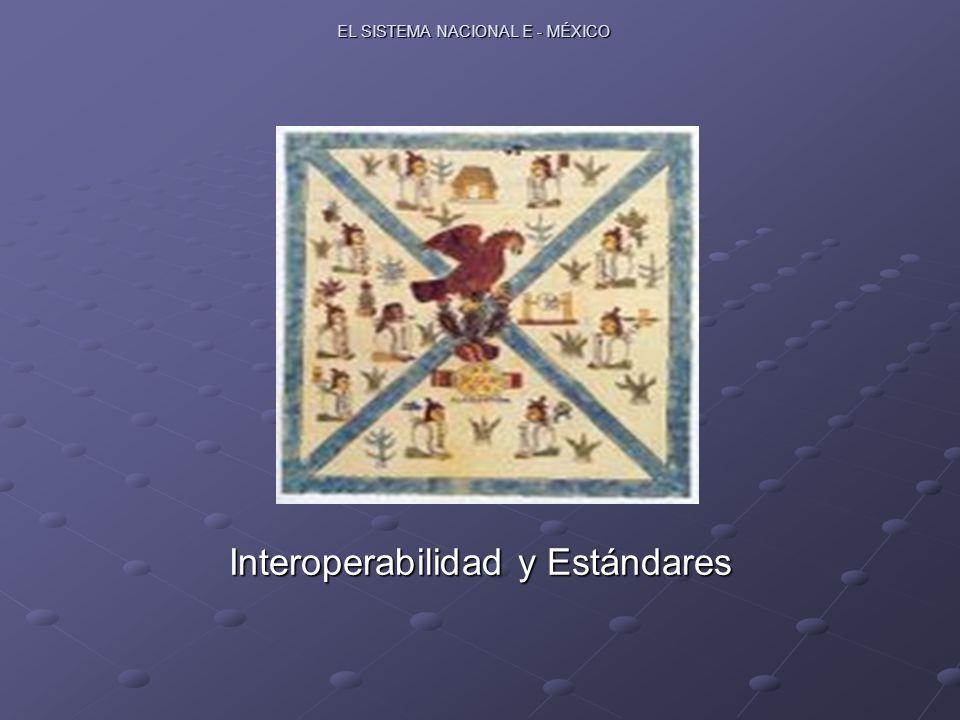 EL SISTEMA NACIONAL E - MÉXICO Interoperabilidad y Estándares