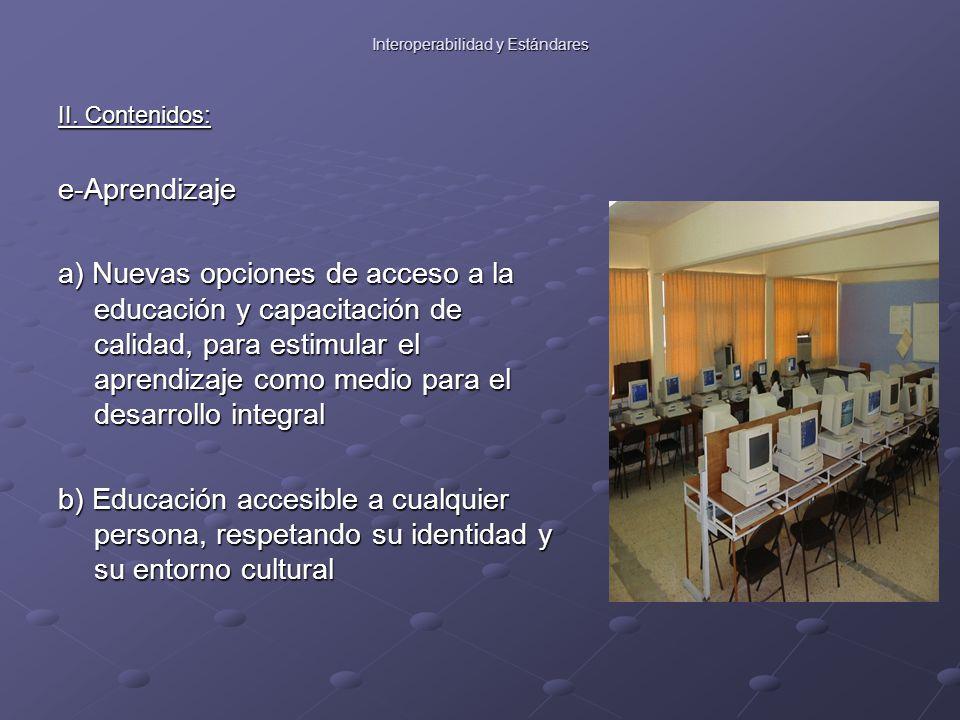 Interoperabilidad y Estándares II.