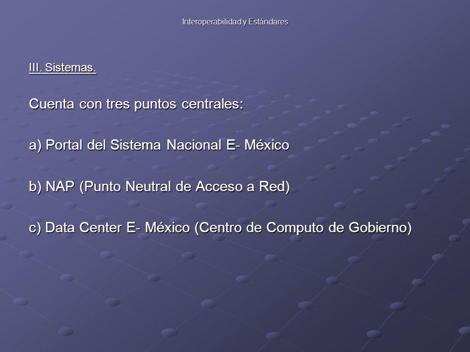 Interoperabilidad y Estándares III. Sistemas.