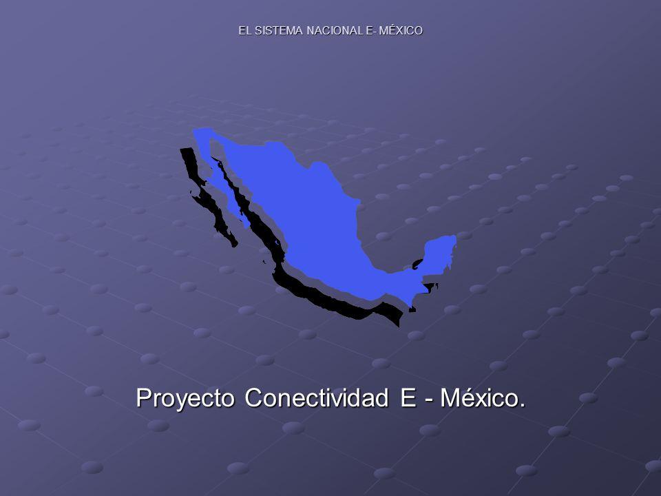EL SISTEMA NACIONAL E- MÉXICO Proyecto Conectividad E - México.