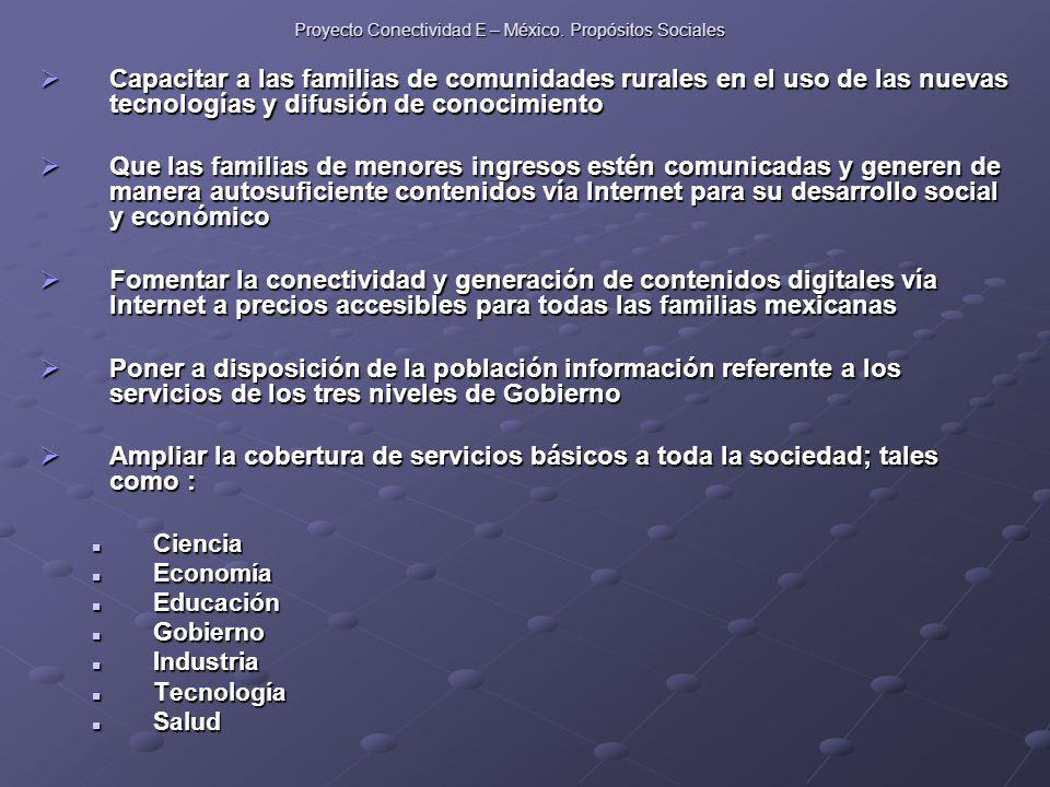 Proyecto Conectividad E – México.