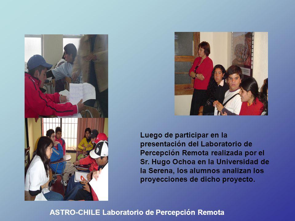 Luego de participar en la presentación del Laboratorio de Percepción Remota realizada por el Sr.