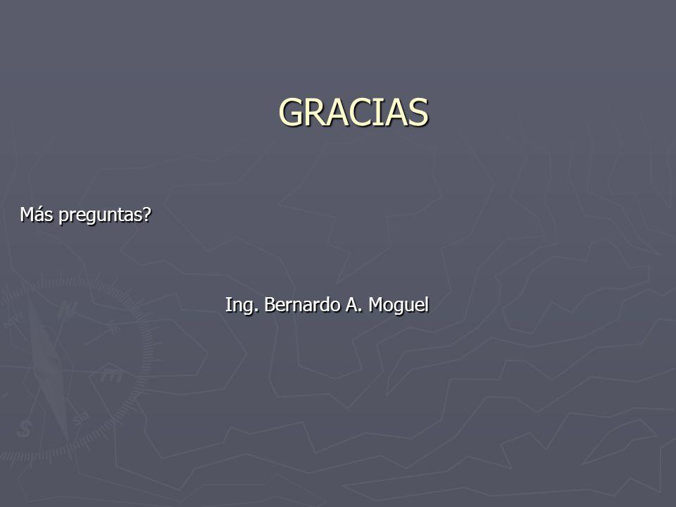 GRACIAS Más preguntas Ing. Bernardo A. Moguel Ing. Bernardo A. Moguel