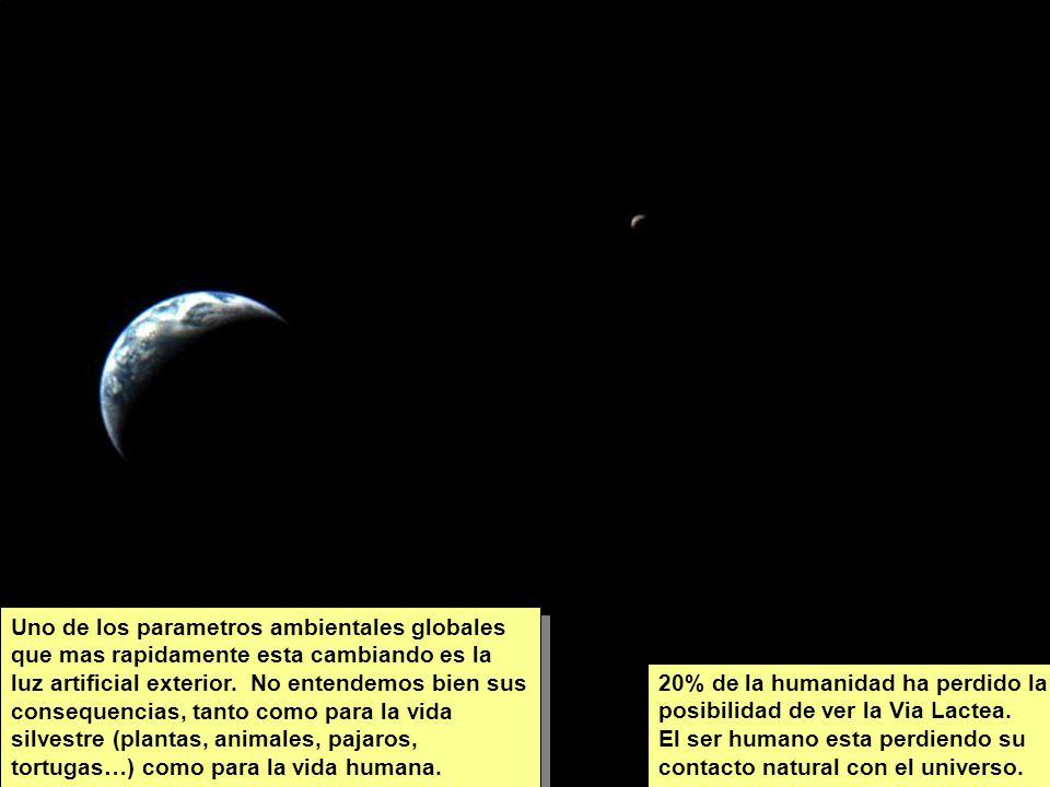 Tuesday, 7th March, 2002 IAUWG meeting, La Serena, Chile2 Uno de los parametros ambientales globales que mas rapidamente esta cambiando es la luz artificial exterior.