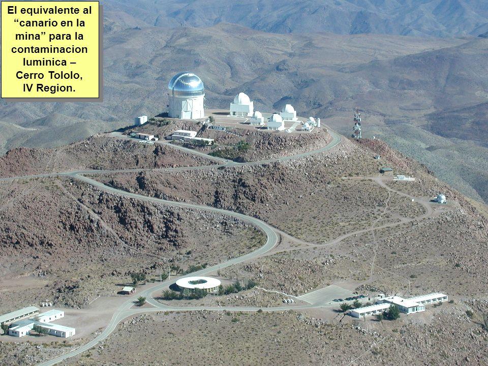 Tuesday, 7th March, 2002 IAUWG meeting, La Serena, Chile28 El equivalente al canario en la mina para la contaminacion luminica – Cerro Tololo, IV Region.