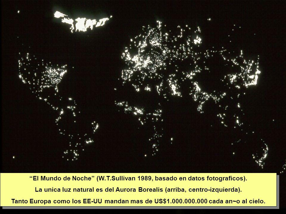Tuesday, 7th March, 2002 IAUWG meeting, La Serena, Chile3 El Mundo de Noche (W.T.Sullivan 1989, basado en datos fotograficos).