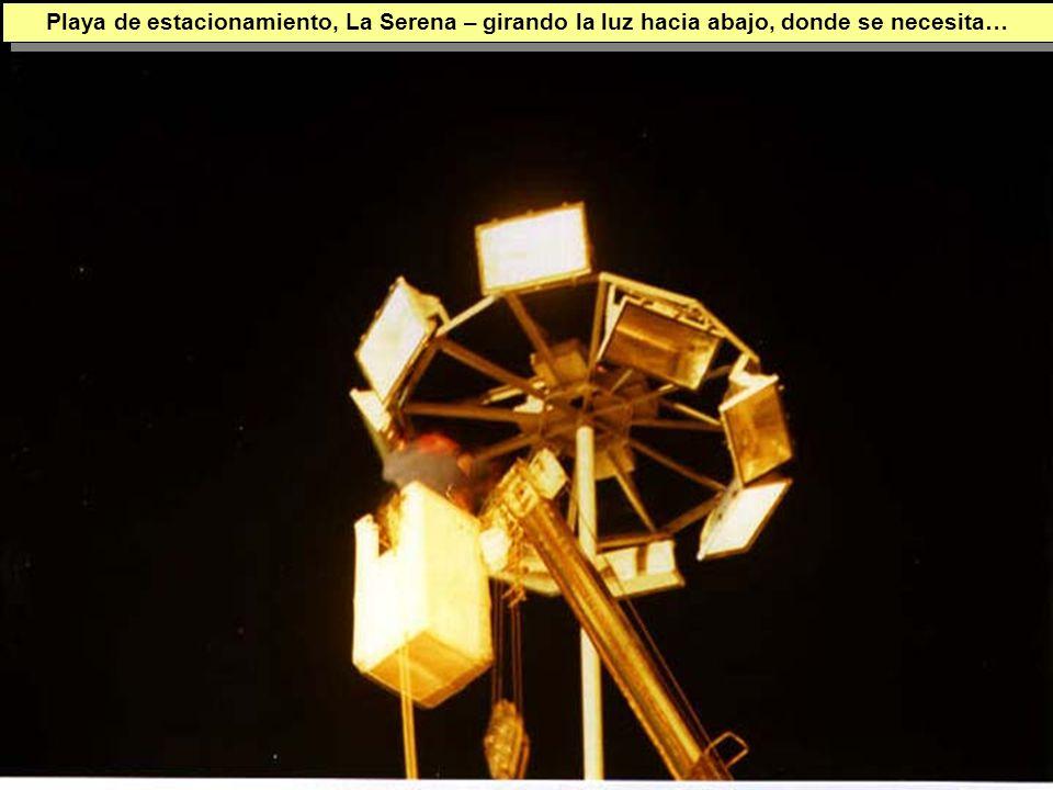 Tuesday, 7th March, 2002 IAUWG meeting, La Serena, Chile51 Playa de estacionamiento, La Serena – girando la luz hacia abajo, donde se necesita…