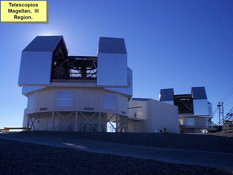 Tuesday, 7th March, 2002 IAUWG meeting, La Serena, Chile59 Telescopios Magellan, III Region.