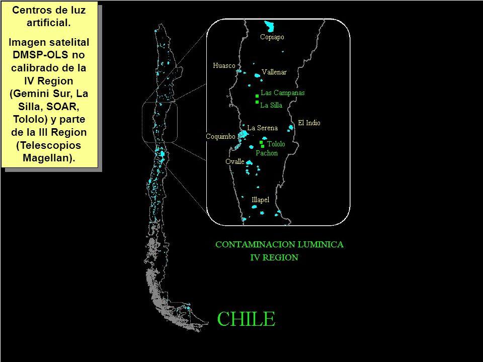 Tuesday, 7th March, 2002 IAUWG meeting, La Serena, Chile60 Centros de luz artificial.