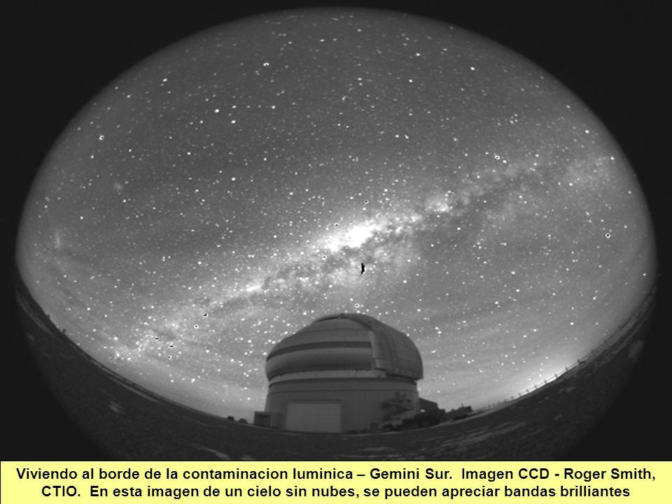 Tuesday, 7th March, 2002 IAUWG meeting, La Serena, Chile67 Viviendo al borde de la contaminacion luminica – Gemini Sur.