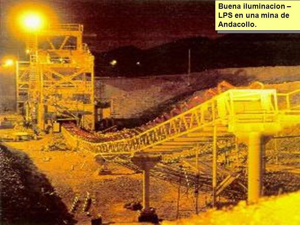 Tuesday, 7th March, 2002 IAUWG meeting, La Serena, Chile70 Buena iluminacion – LPS en una mina de Andacollo.