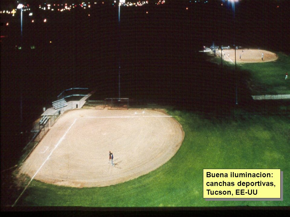 Tuesday, 7th March, 2002 IAUWG meeting, La Serena, Chile75 Buena iluminacion: canchas deportivas, Tucson, EE-UU