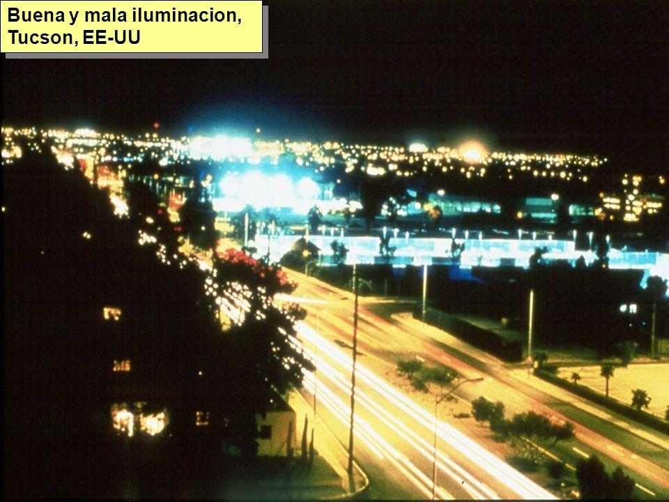 Tuesday, 7th March, 2002 IAUWG meeting, La Serena, Chile76 Buena y mala iluminacion, Tucson, EE-UU