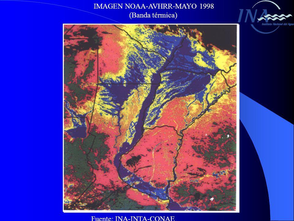 IMAGEN NOAA-AVHRR-MAYO 1998 (Banda térmica) Fuente: INA-INTA-CONAE