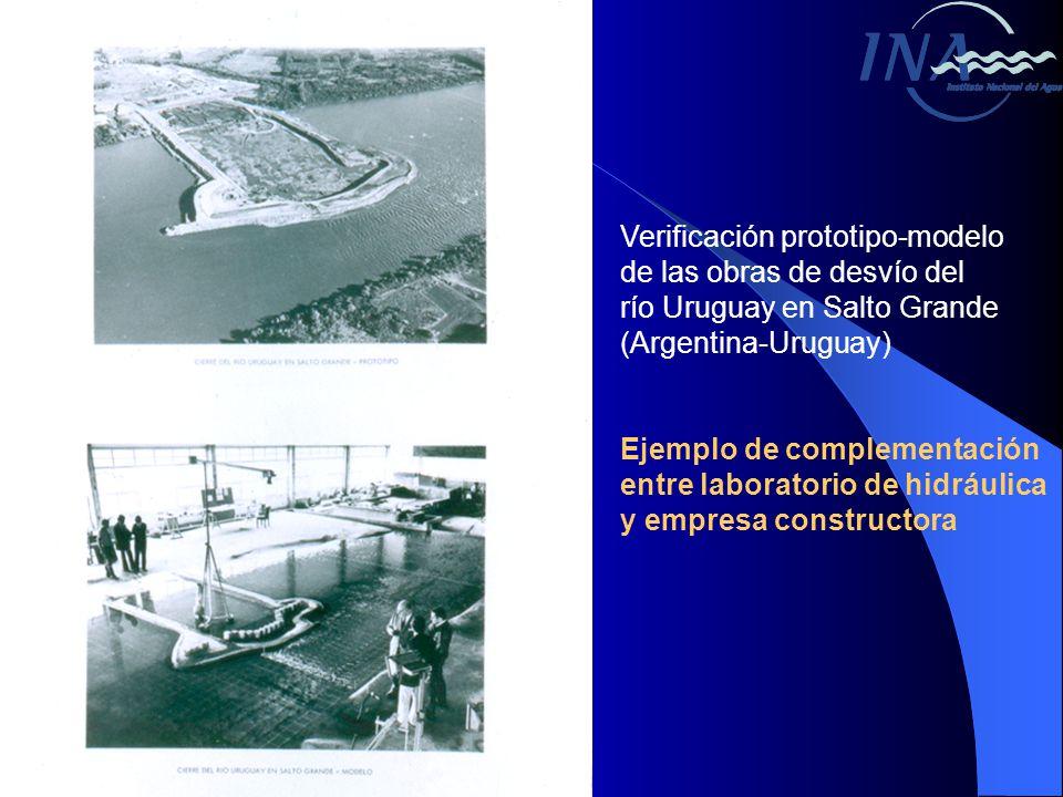 Verificación prototipo-modelo de las obras de desvío del río Uruguay en Salto Grande (Argentina-Uruguay) Ejemplo de complementación entre laboratorio de hidráulica y empresa constructora