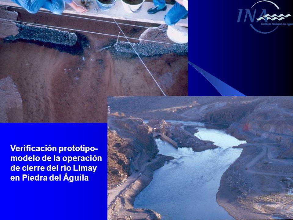 Verificación prototipo- modelo de la operación de cierre del río Limay en Piedra del Águila