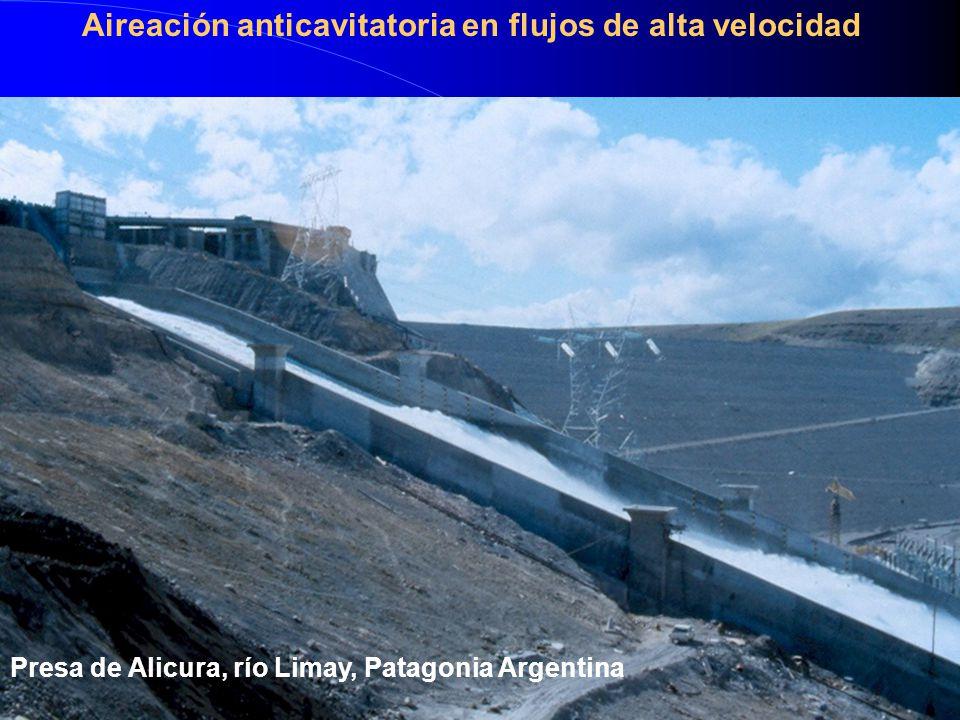 Presa de Alicura, río Limay, Patagonia Argentina Aireación anticavitatoria en flujos de alta velocidad