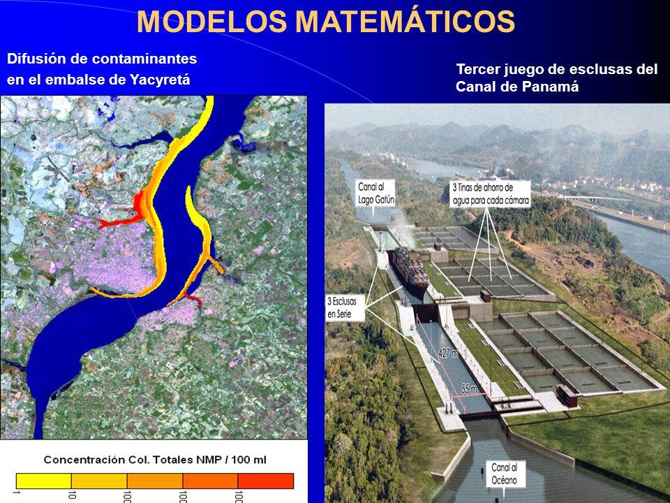 Difusión de contaminantes en el embalse de Yacyretá MODELOS MATEMÁTICOS Tercer juego de esclusas del Canal de Panamá