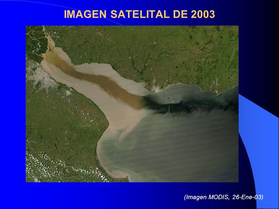 IMAGEN SATELITAL DE 2003 (Imagen MODIS, 26-Ene-03)