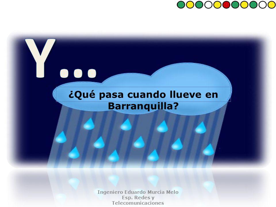 ¿Qué pasa cuando llueve en Barranquilla. Ingeniero Eduardo Murcia Melo Esp.