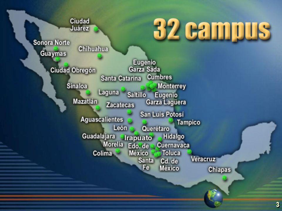 2 El Sistema Tecnológico de Monterrey Fundado en 1943 Institución privada 130,651 egresados 7,638 profesores 95,697 estudiantes Fundado en 1943 Institución privada 130,651 egresados 7,638 profesores 95,697 estudiantes