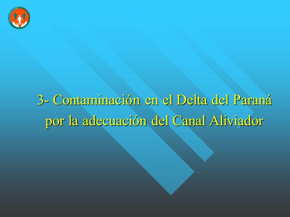 3- Contaminación en el Delta del Paraná por la adecuación del Canal Aliviador