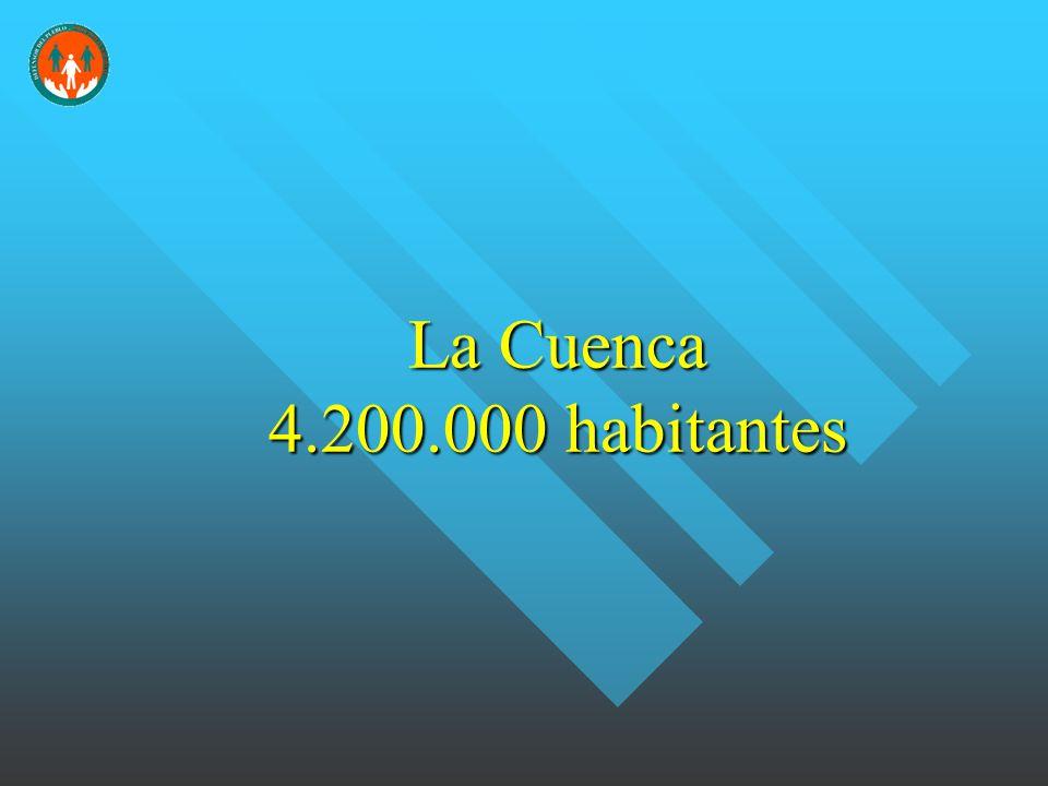 La Cuenca 4.200.000 habitantes