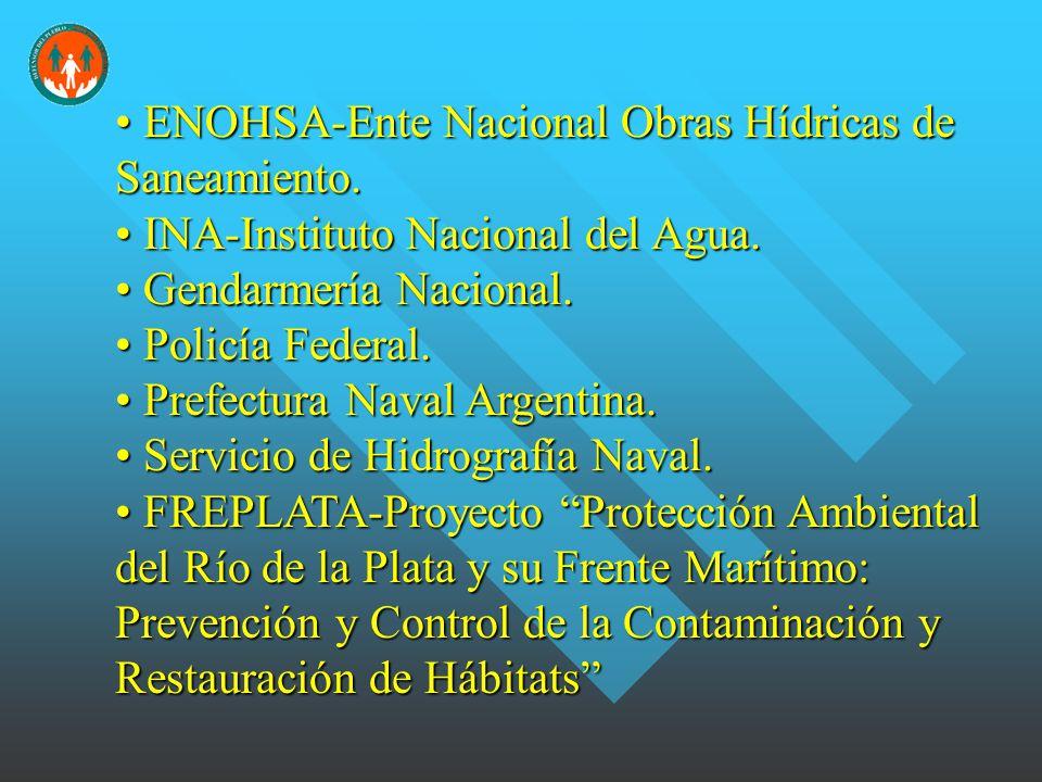 ENOHSA-Ente Nacional Obras Hídricas de Saneamiento.