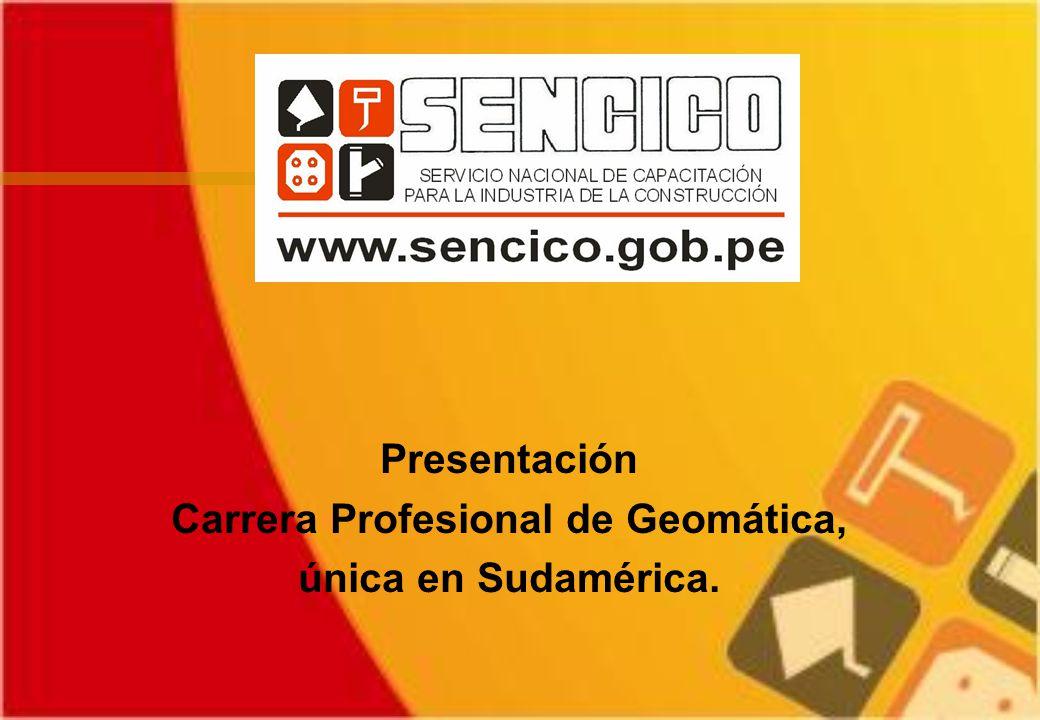 Presentación Carrera Profesional de Geomática, única en Sudamérica.