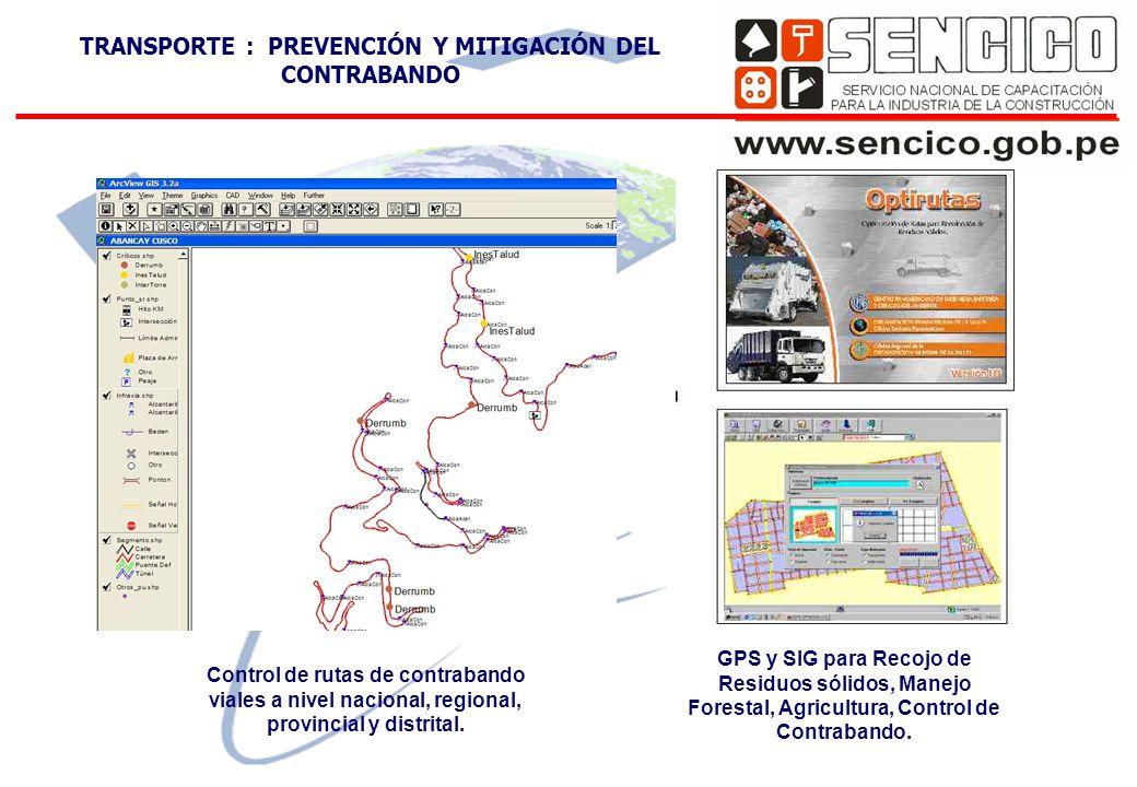 GPS y SIG para Recojo de Residuos sólidos, Manejo Forestal, Agricultura, Control de Contrabando.