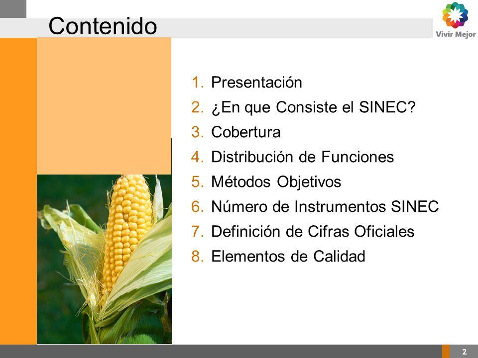 2 Contenido 1.Presentación 2.¿En que Consiste el SINEC.