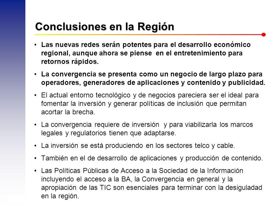 AHCIET – XXIV Reunión de Tráfico Internacional – Noviembre, 2008 18 Conclusiones en la Región Las nuevas redes serán potentes para el desarrollo económico regional, aunque ahora se piense en el entretenimiento para retornos rápidos.
