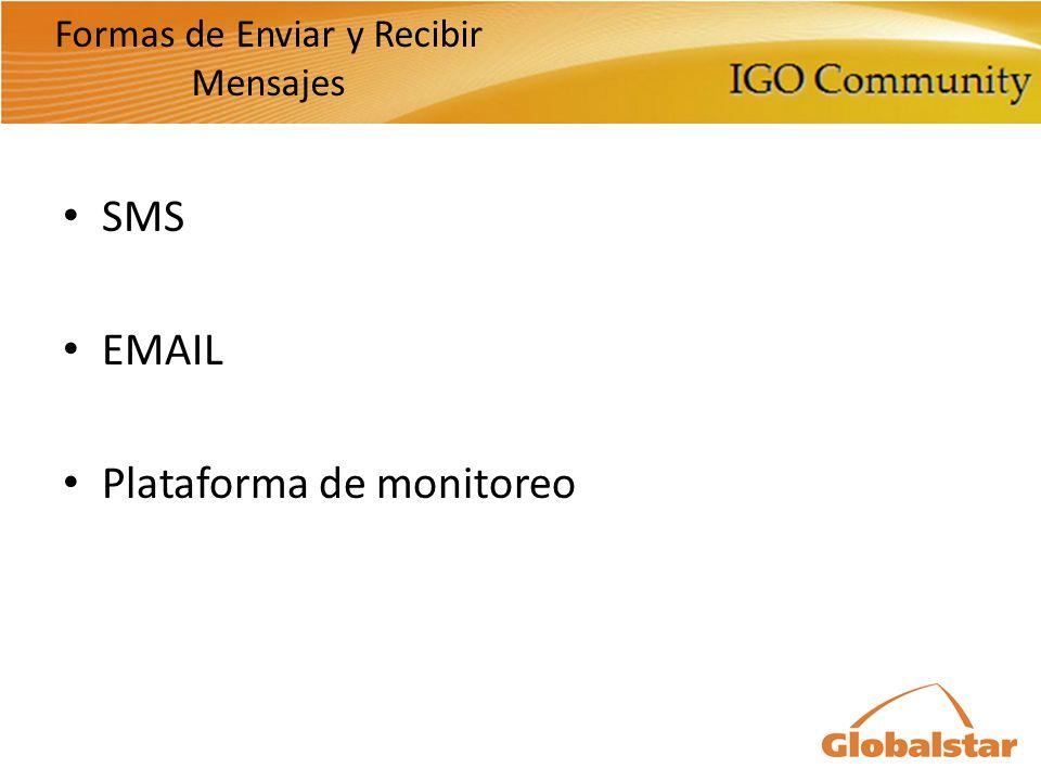 Formas de Enviar y Recibir Mensajes SMS EMAIL Plataforma de monitoreo