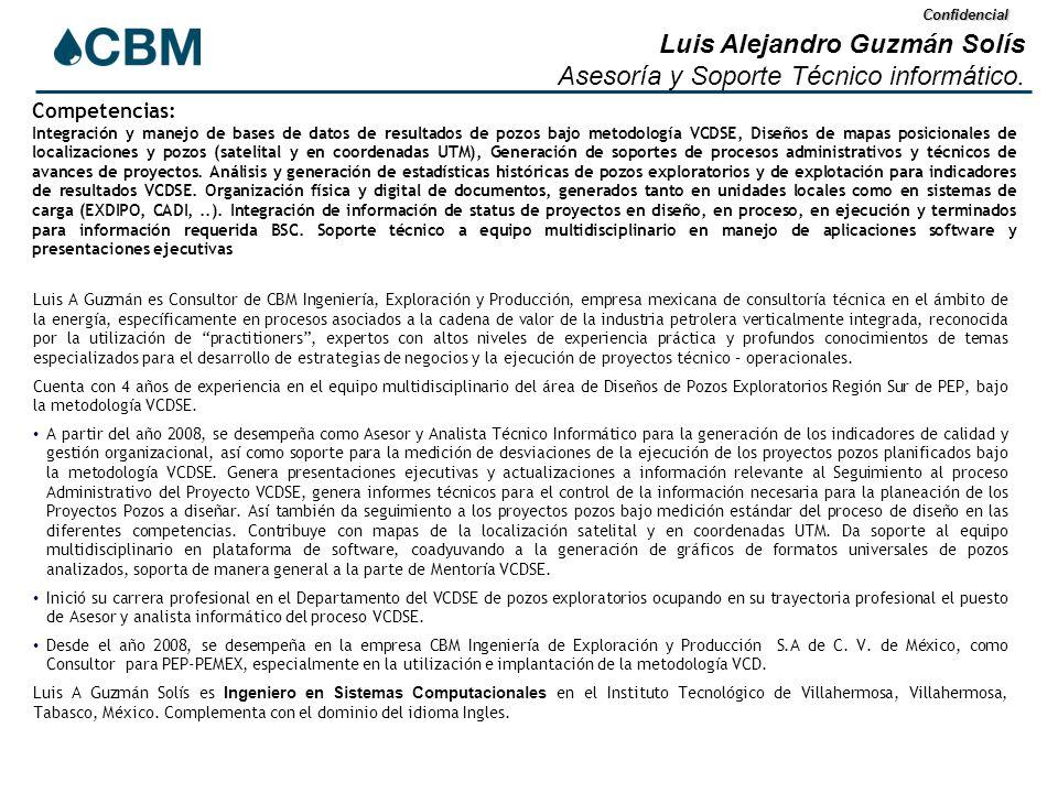 Confidencial Luis Alejandro Guzmán Solís Asesoría y Soporte Técnico informático.