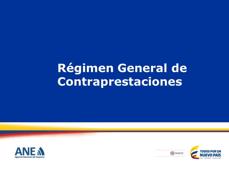 Régimen General de Contraprestaciones