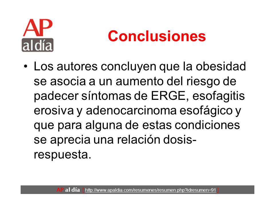 AP al día [ http://www.apaldia.com/resumenes/resumen.php idresumen=91 ] Resultados (1) * T: Transversales.