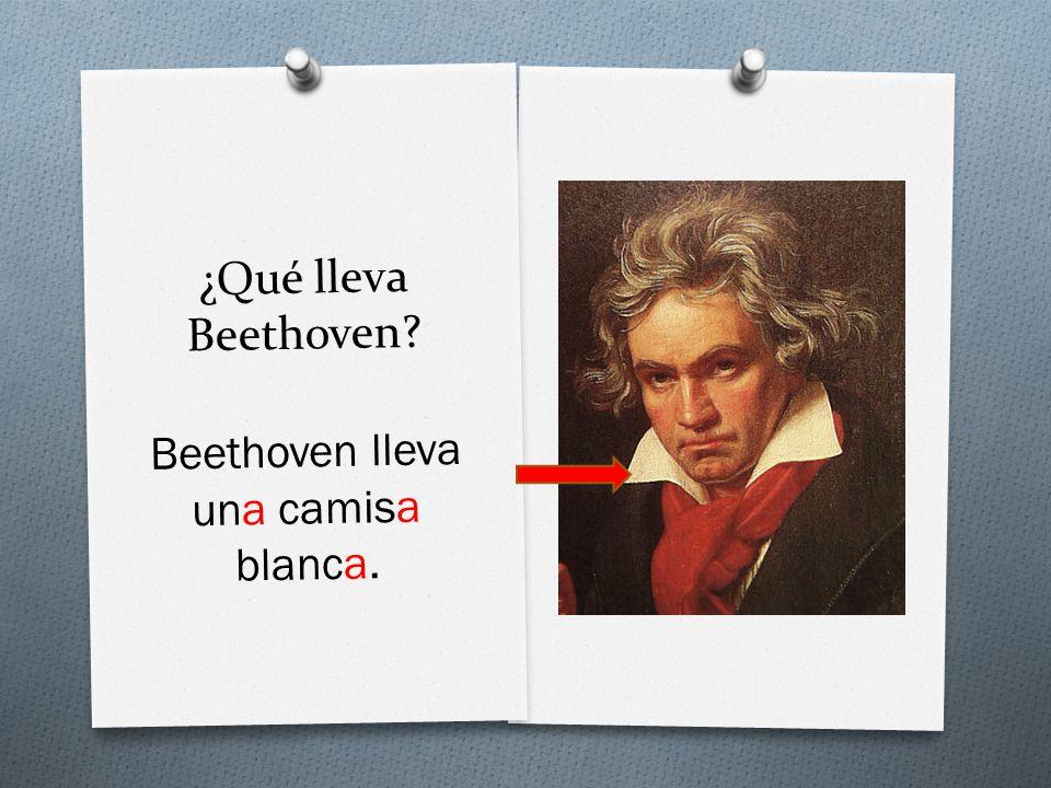 ¿Qué lleva Beethoven Beethoven lleva una camisa blanca.
