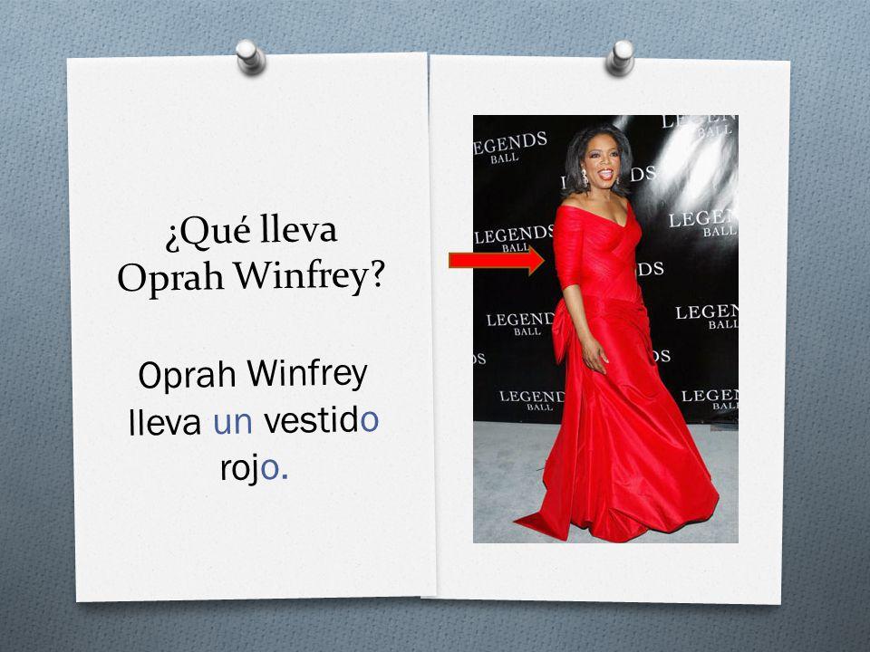 ¿Qué lleva Oprah Winfrey Oprah Winfrey lleva un vestido rojo.