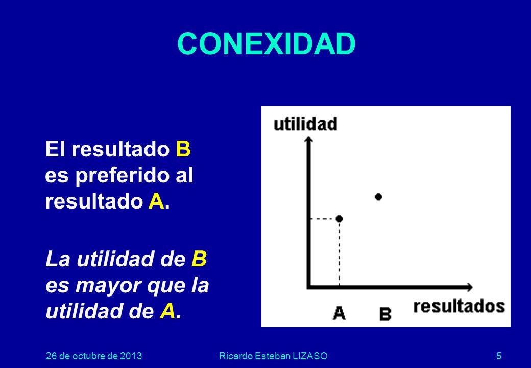 26 de octubre de 2013Ricardo Esteban LIZASO5 CONEXIDAD El resultado B es preferido al resultado A.
