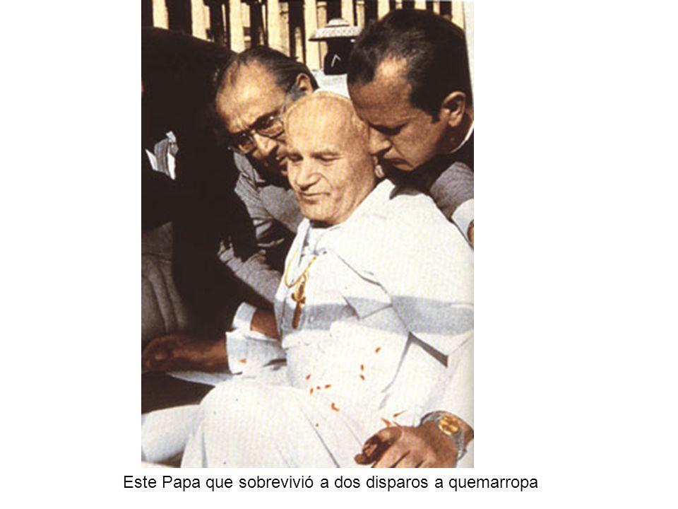 Este Papa que sobrevivió a dos disparos a quemarropa