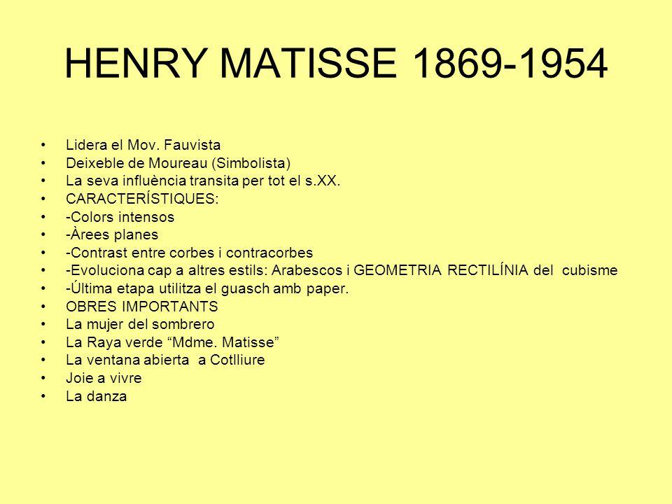 HENRY MATISSE 1869-1954 Lidera el Mov.