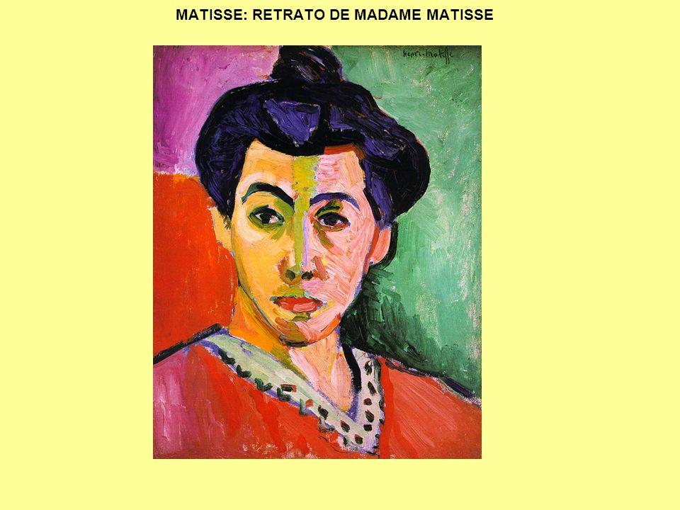 MATISSE: RETRATO DE MADAME MATISSE