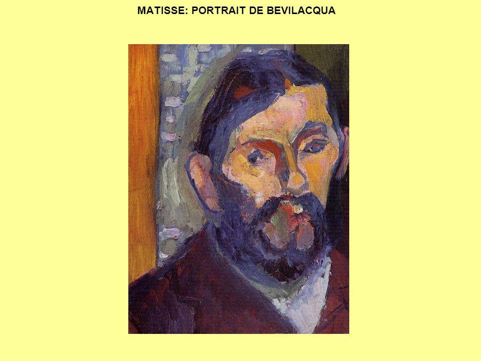 MATISSE: PORTRAIT DE BEVILACQUA