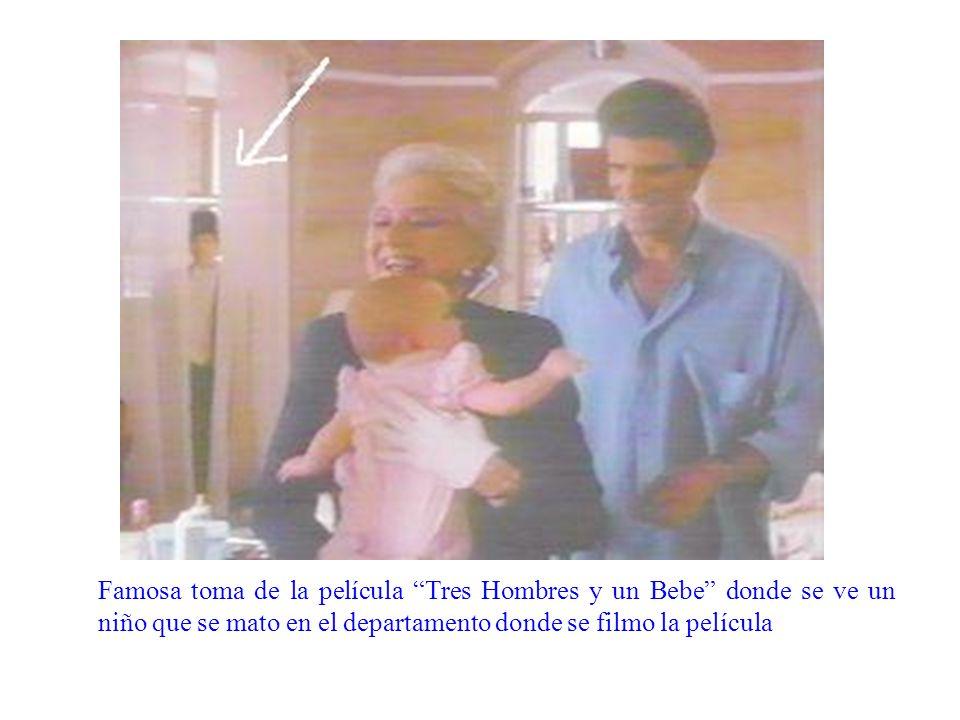 Famosa toma de la película Tres Hombres y un Bebe donde se ve un niño que se mato en el departamento donde se filmo la película