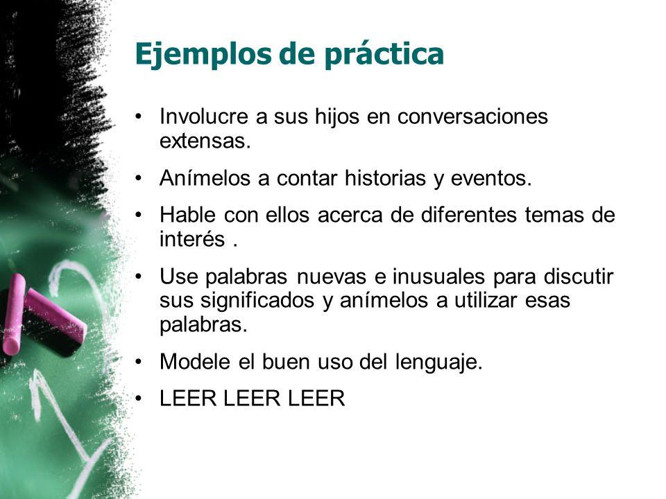 Vocabulario Los estudios demuestran que a los niños que les leen en su lengua materna (como el español), les resulta más fácil aprender a leer en su segundo idioma (como el inglés).