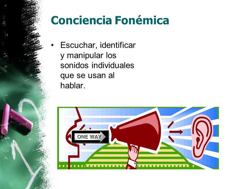 Los 5 componentes de la lectura Conciencia Fonémica  Practica.